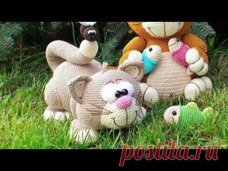МК Вяжем крючком котика игрушку амигуруми Часть 2 Тело котёнка