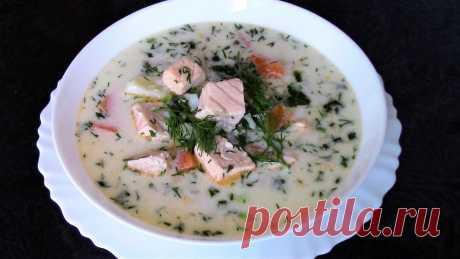 Супер-рецепт самой вкусной ухи из лосося со сливками! Финский суп Лохикейтто. Суп получается нежным, ароматным, он просто тает во рту! Такой рыбный суп можно приготовить из любой красной рыбы.