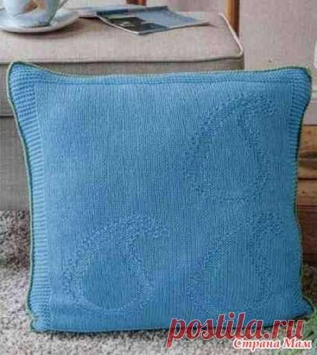 . Плед и подушка теневым узором пейсли (схема) - Вязание - Страна Мам