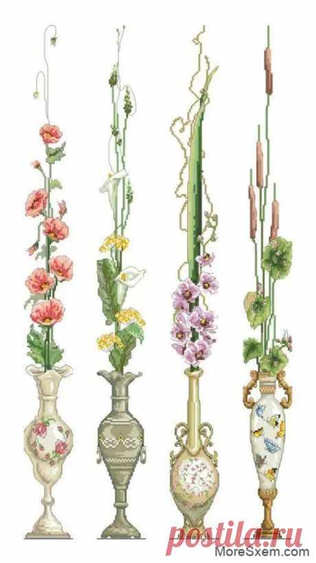 Цветы. Панели с цветами в вазах - Домоводство - медиаплатформа МирТесен