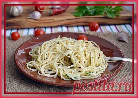 Макароны ( спагетти ) с чесноком и маслом | DUBIK-FOOD.RU | Яндекс Дзен