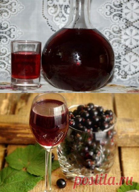 Fruit liqueur from blackcurrant