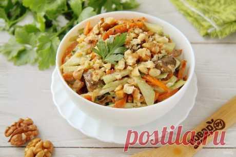 Салат с печенью и редькой - пошаговый рецепт с фото на Повар.ру