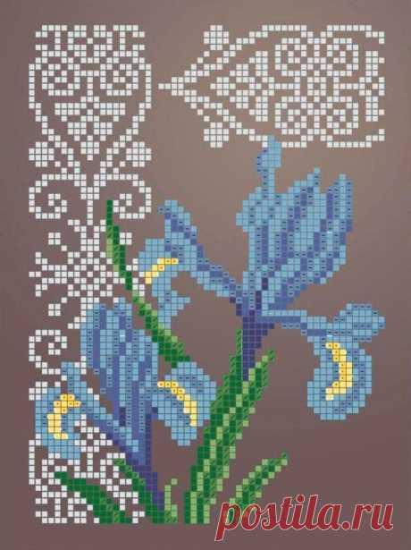 Схема для вышивки бисером Цветы «Зупа»™ «Ирис 2344» (A5) 15x18 (ЧВ-2344 (10)) Схемы вышивки бисером - это специальная ткань с рисунком для вышивания бисером. Схема для вышивания нанесена на ткань в виде цветных обозначений поверх изображения. В состав входят рисунок на ткани и инструкция по вышиванию. Бисер в состав не входит.