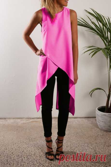 Необычная туника Модная одежда и дизайн интерьера своими руками