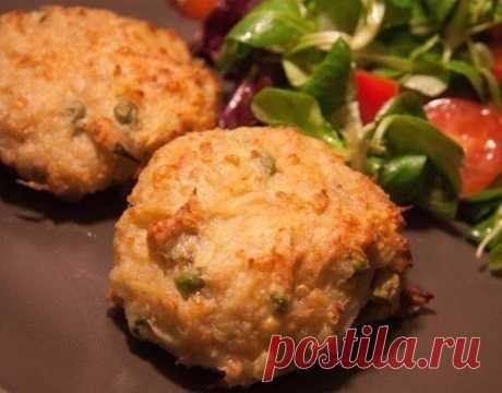Котлетки куриные с сыром и картофелем