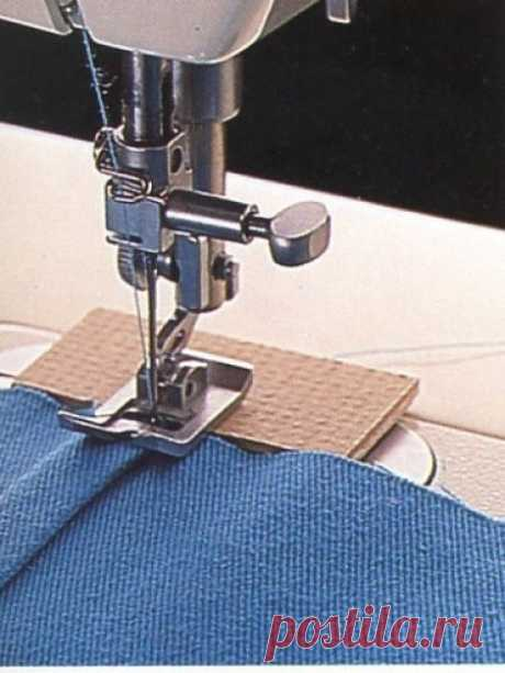 How to stitch thickenings on seams