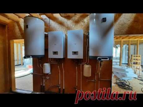 В одном доме две системы отопления. Такое иногда нужно.