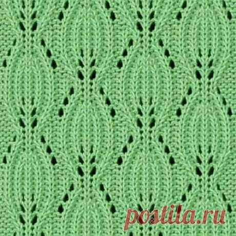 Вязание - ажурные листочки | Ажурные Узоры