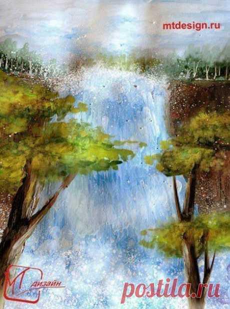 Рисуем водопад