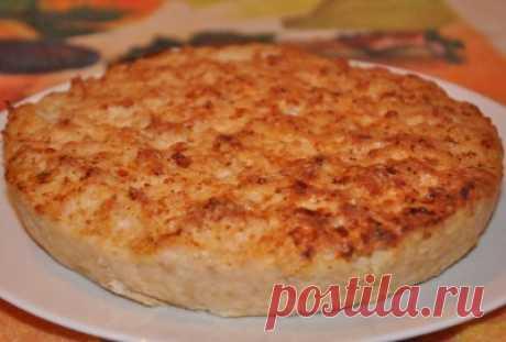 «Пирог» из куриного фарша : Вторые блюда
