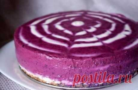 Черничный творожный торт без выпечки. — Sloosh – кулинарные рецепты