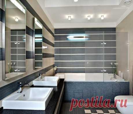 Практически идеальное решение по зонированию ванной комнаты с помощью распашной шторки для ванной от завода Акма