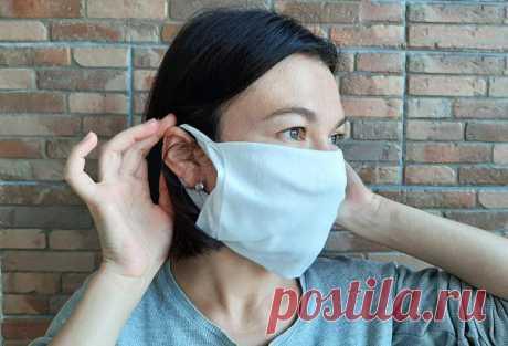 Делаем медицинскую маску без шитья