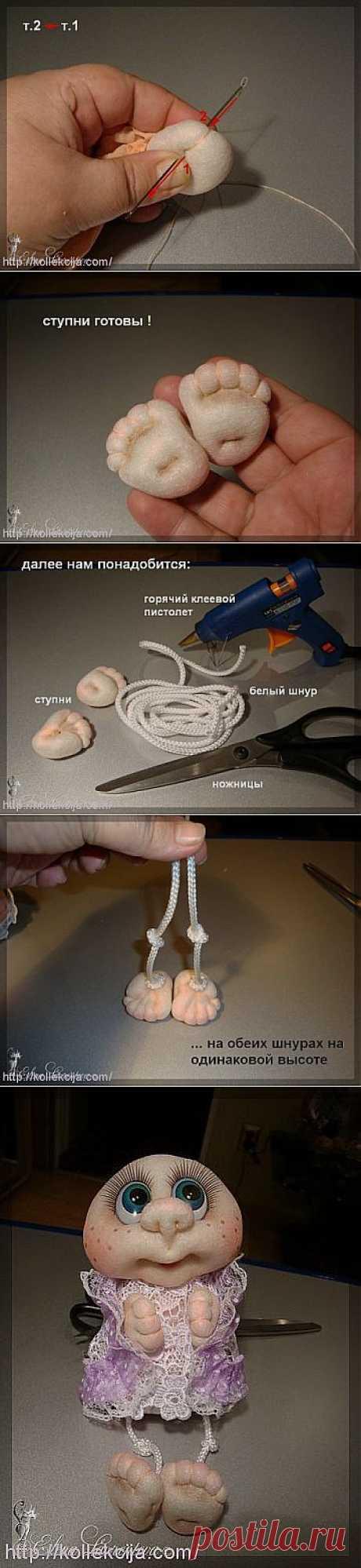 La técnica de la fabricación de las muñecas de las medias — el Pie. El autor Elena Lavrenteva. | por las manos