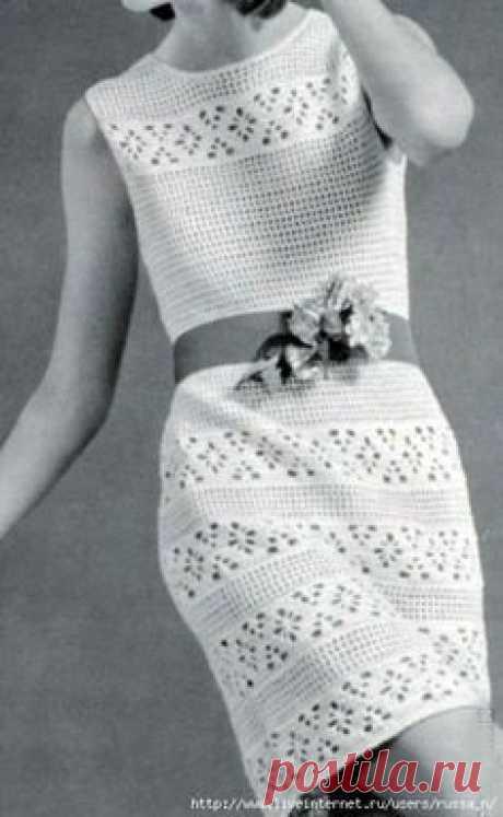 Вязанные платья,сарафаны,юбки в Pinterest