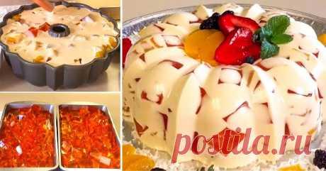 Желейный торт без выпечки — CookingPad