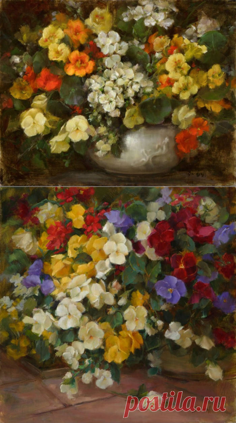 Цветочные картины художника Stephanie Birdsall