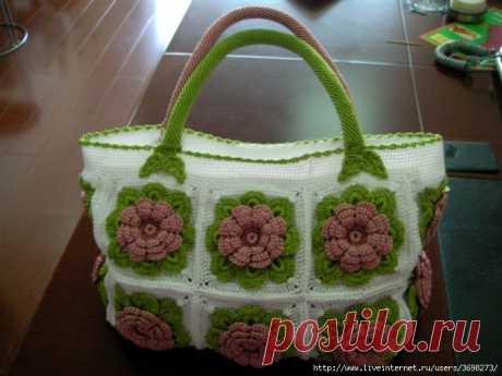 Невероятно красивая сумка крючком — DIYIdeas