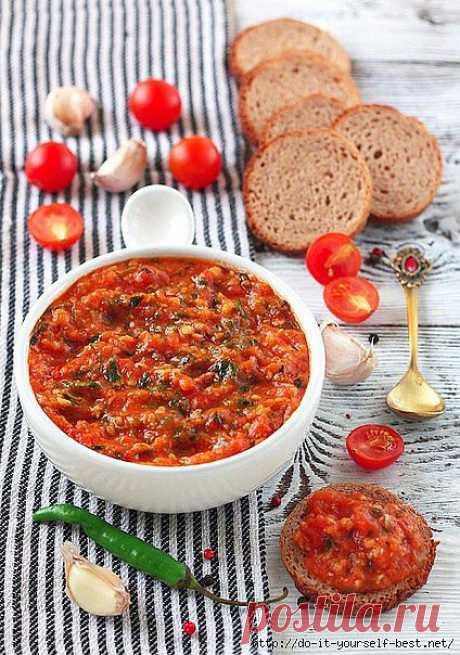 Томатно-чесночный соус (к рыбным блюдам, и не только).
