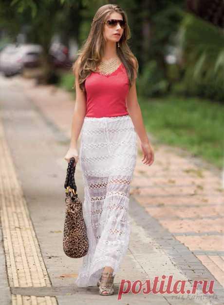 Летняя юбка в пол по схеме вязания крючком - Портал рукоделия и моды