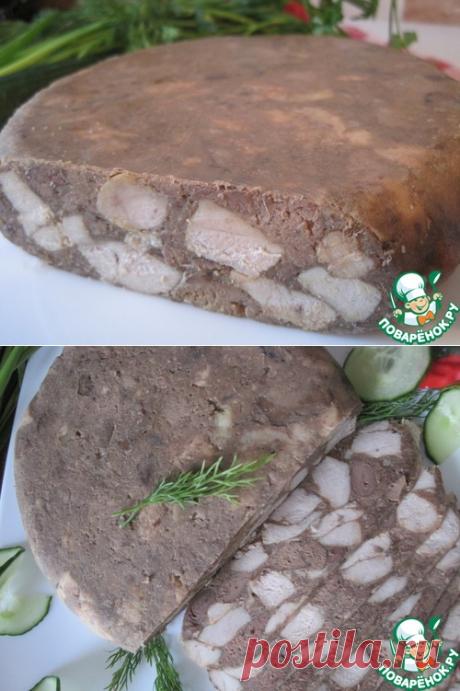 Мясо прессованное в чулке - кулинарный рецепт