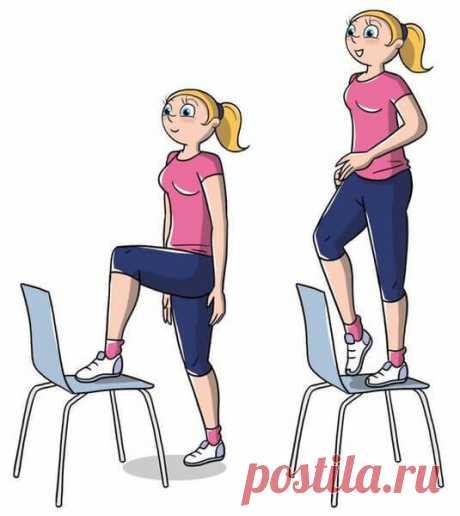 Активное сжигание жира с помощью стула за 10 минут | Диеты со всего света