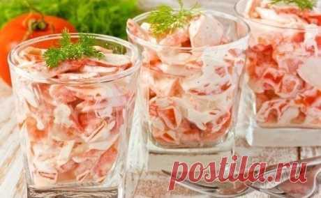 Салат с крабовыми палочками. Легкий, быстрый, оригинальный и нежный на вкус. - МирТесен