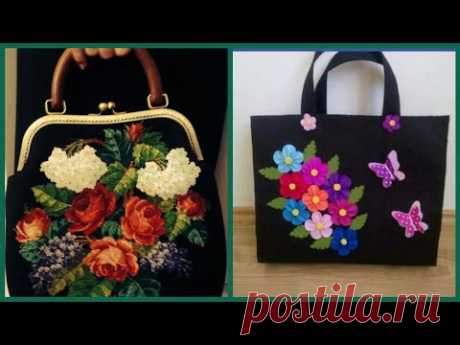 Beautiful latest stylish embroidered handbag collection - YouTube