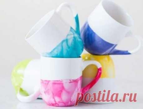 Оригинальный декор чашек — Сделай сам, идеи для творчества - DIY Ideas