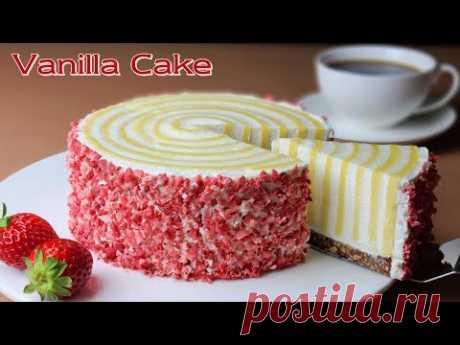 Без муки / Стакан / Рецепт ванильного пирога без муки / Vanilla Sponge Cake