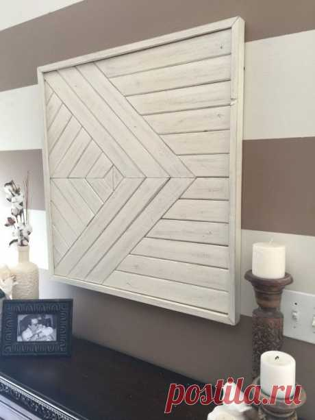 Wooden wall art Shabby chic wall decor reclaimed wood wall