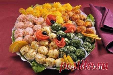 Закусочные сырные шарики на праздничный стол