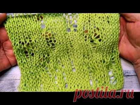 Вязание спицами. Бомж стиль, рванина, хипстерские дырки, лакшери - YouTube