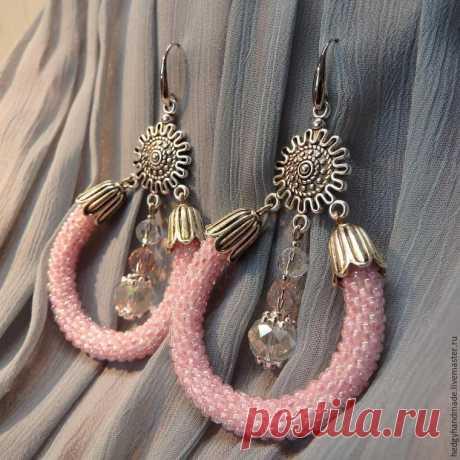Создаем нежные серьги «Розовый бриз»