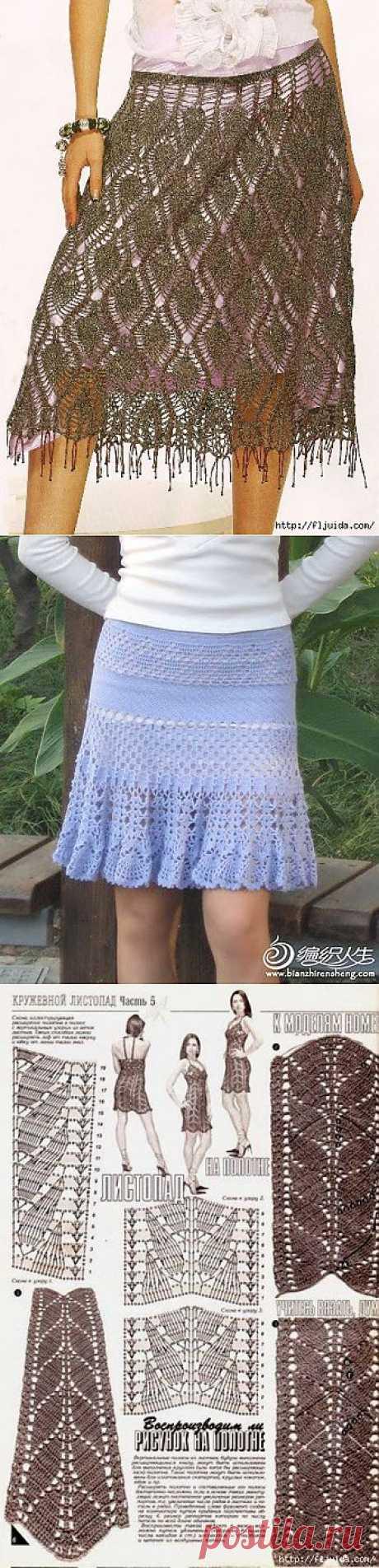 5 часть. Вяжем крючком стильные юбки..