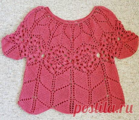 Tina's handicraft : kids crochet blouse