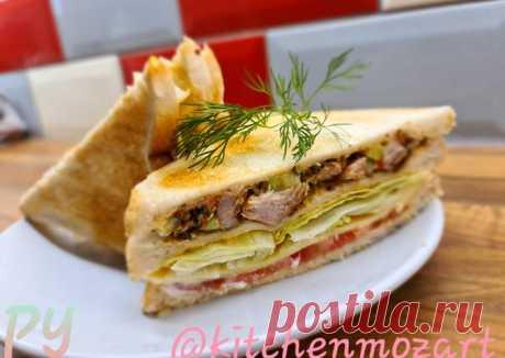 """(3) """"Клаб сэндвич"""" с курицей🥪 - пошаговый рецепт с фото. Автор рецепта Zavinta Alina Reinikova . - Cookpad"""