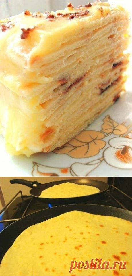 Среда обитания: Сказочно вкусный торт с творожным заварным кремом