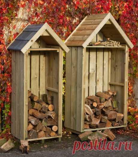 Поленница для дров: виды конструкций и 70 практичных вариантов для частного дома