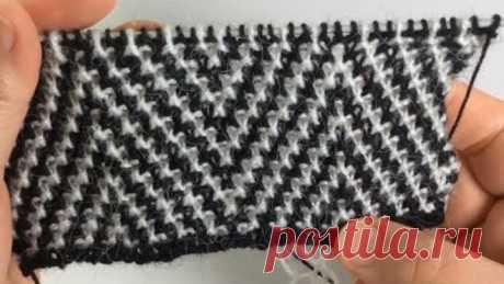 Узор для кардигана в стиле Шанель / Мозаичная техника / Вязание спицами