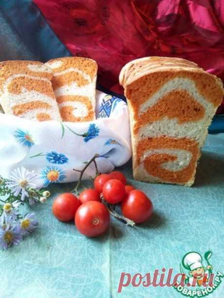 Томатный хлеб с рисунком - кулинарный рецепт