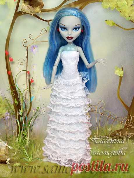 Свадебное платье для куклы своими руками   Самошвейка - сайт для любителей шитья и рукоделия