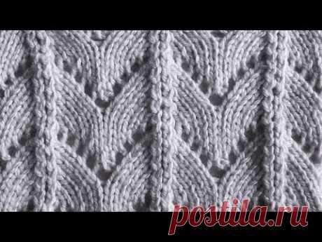 Ажурные дорожки Вязание спицами Видеоурок 85