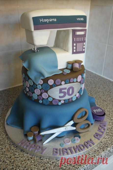 Тематический торт - швейная машинка