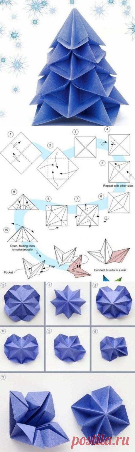 El árbol de Año Nuevo del origami.