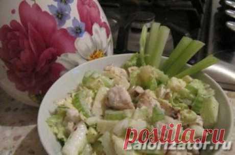 Салат из сельдерея с яблоком и курицей - калорийность, состав, описание - www.calorizator.ru