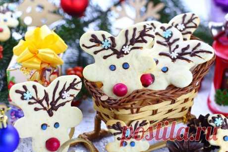 """Печенье """"Рождественские олени""""   Меню недели"""