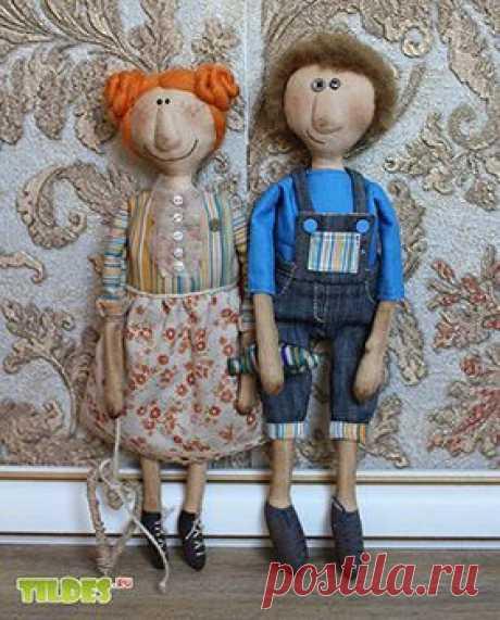 Выкройка чердачных кукол