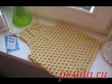 вязаный ТОП для ДЕВОЧКИ крючком ☆ Детский ТОП 👶 Blusa De Crochê ☀ Knitting crochet top for girls🔒